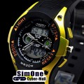 OHSEN – AD0805-4: Dual Time Dual System Alarm / Chronograph Sports Watch