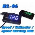 KL-06 Head-Up Display With Battery Volt-Meter  Speed Limit Alarm