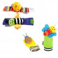 Lamaze Garden Bug Foot Finder and Wrist Rattle - Multicolor