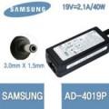 Adaptor สำหรับ Samsung = 19V/2.1A (3.0*1.5mm)