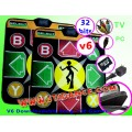 แผ่นเต้นแบบหนากันลื่น(v6)แพ็คคู่ เพิ่มเพลงได้เอง 2in1 ต่อ TV ได้โดยตรง+ต่อคอม+30 เกมส์สนุก+เมม2GB
