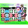 แผ่นเต้นเล่นคู่มาตรฐานกันลื่น(v6) เพิ่มเพลงได้เอง 2in1 ต่อ TV ได้โดยตรง+ต่อคอม+30 เกมส์สนุก+เมม2GB