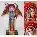 ตุ๊กตางิ้วจีนชุดผ้าไหม  นักรบหญิงมู่กุ้ยอิง  ขนาด 12 นิ้ว