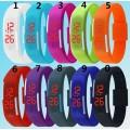 คู่รัก LED Watch Colorful นาฬิกา ดิจิตอล สายรัดข้อมือ สี ยางซิลิโคลน