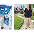 Trusty CANE ไม้เท้าช่วยพยุง ไม้เท้าผู้สูงอายุ มีฐานยาง 4 ปุ่ม ตั้งได้โดยไม้ล้ม พับเก็บง่าย มีไฟฉาย