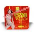 กล่องเหล็กสี่เหลี่ยมสีแดง ลดน้ำหนัก V26 Slimming Coffee Original