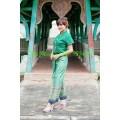 ชุดเสื้อผ้าโซล่อนสีเขียว + กางเกงจีบหน้านางทอง *ตอนนี้จะเป็นงานออเดอร์เท่านั้นคะ*