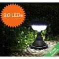 โคมไฟติดยอดเสา พลังงานแสงอาทิตย์ LED 20 หลอด