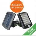 โคมไฟพลังงานแสงอาทิตย์ LED 36 หลอด พร้อมเซ็นเซอร์จับความเคลื่อนไหวและ แหล่งจ่ายไฟตรง