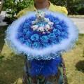 ช่อดอกไม้ D56 สีฟ้า