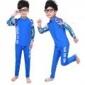 ชุดว่ายน้ำเด็ก เสื้อแขนยาว กางเกงขายาว เนื้อผ้าสแปนดิซ ยืดหย่นดี ใส่สบาย