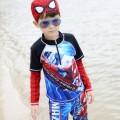 ชุดว่ายน้ำเด็ก แขนยาว ขาสั้น เนื้อผ้าสแปนดิซ ยืดหย่นดี ใส่สบาย  ป้องกันแสงยูวี 50+NO.729
