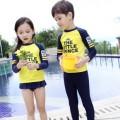 ชุดว่ายน้ำเด็ก ชายและหญิง เนื้อผ้าสแปนดิซ ยืดหย่นดี ใส่สบาย  ป้องกันแสงยูวี 50+NO.730