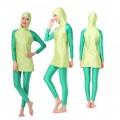 ชุดว่ายน้ำมุสลิม แขนยาว ขายาว สำหรับผู้หญิง สีเขียว