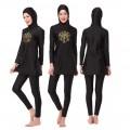 ชุดว่ายน้ำมุสลิม แขนยาว ขายาว สำหรับผู้หญิง สีดำ