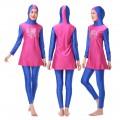 ชุดว่ายน้ำมุสลิม แขนยาว ขายาว สำหรับผู้หญิง สีบางเย็น