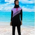 ชุดว่ายน้ำกระโปรง แขนยาว ขายาว  NO.292 XL,2XL,3XL สีม่วง