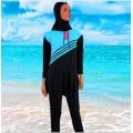 ชุดว่ายน้ำกระโปรง แขนยาว ขายาว  NO.292 XL,2XL,3XL สีฟ้า