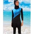 ชุดว่ายน้ำกระโปรง แขนยาว ขายาว  NO.292 L,XL,2XL สีน้ำเงิน