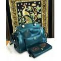 กระเป๋าหนังแท้ Tlux item BW001L + กระเป๋าสตางค์ 16 สีส้ม