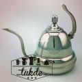 กาดริป กาแฟ สแตนเลส Drip Potแบบมือจับชี้ขี้นบน สำหรับ กาแฟดริป  ขนาด1ลิตร/1000cc. Drip Kettle
