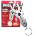 SWISS+TECH Key Ring Multi-Tool 7-in-1 อุปกรณ์เอนกประสงค์ พวงกุญแจเครื่องมือ  7-in-1 มีเครื่องมือพกพา