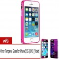 Yoobao เคสอลูมิเนียม iPhone5/5S Metal Bumper (Pink) ฟรี Mirror Tempered Glass For iPhone5/5S DM2 (Vi