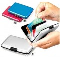 กระเป๋าอลูมิเนียม ใส่บัตรเครดิตการ์ด นามบัตร เอทีเอ็ม สีเงิน Code0271
