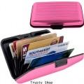 กระเป๋าอลูมิเนียม ใส่บัตรเครดิตการ์ด นามบัตร เอทีเอ็ม สีชมพู Code0507