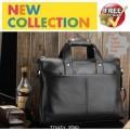 กระเป๋าหนังผู้ชาย มาดนักธุรกิจเท่ห์ๆ กระเป๋าโน็ตบุ๊ค สีดำ Maike Jueshi 0586 ใหม่ล่าสุด!