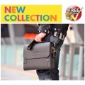 กระเป๋าหนัง กระเป๋าผู้ชาย กระเป๋าเอกสาร กระเป๋าโน็ตบุ๊ค สีน้ำตาล POLO VIDENG 0613
