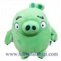 ตุ๊กตาแองกี้เบิร์ดหมูสีเขียว ขนาด 12 นิ้ว (Pigs)