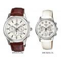 นาฬิกา Casio เซ็ทคู่ ชาย-หญิง Edifice-Sheen EFR-517L-7A VS SHE-5023L-7A