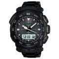 นาฬิกาข้อมือ คาสิโอ Casio Protrek รุ่น PRG-550BD-1 สายสแตนเลสรมดำ black ip