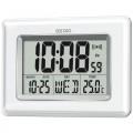 Seiko QHL058W Digital LCD Clock Pearlised - White