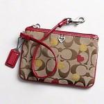 กระเป๋าคล้องมือ COACH POPPY ADMIRER RED HEART WRISTIET 44870