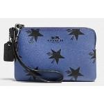 กระเป๋าคล้องมือ COACH STAR CANYON CORNER ZIP  WRISTLET WALLET CLUTCH  BLUE MUTICOLOUR F64239