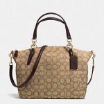 กระเป๋าสะพาย COACH SMALL KELSEY SATCHEL IN SIGNATURE KHAKI BROWN F36625