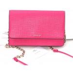 กระเป๋าสะพาย COACH  MADISON EMBOSSED LEATHER CROSSBODY CLUTCH  SHOULDER BAG PINK RUBY  38135E