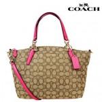 กระเป๋าสะพาย COACH SMALL KELSEY SATCHEL IN SIGNATURE KHAKI DEHLIA F36625