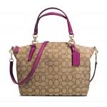 กระเป๋าสะพาย COACH SMALL KELSEY SATCHEL IN SIGNATURE KHAKI FUCHSIA F36625