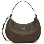 กระเป๋าสะพาย COACH HARLEY SIGNATURE HOBO KHAKI BLACK BAG 38267