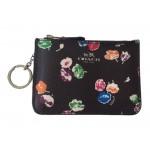 กระเป๋าพวงกุญแจ COACH WILD FLOWER LEATHER KEYCHAIN POUCH 65444