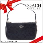 COACH TOP HANDLE POUCH IN SIGNATURE F36618 (Black)