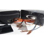 กรอบแว่นสายตา Oakley Crosslink 55 สี Satin Rootbeer / Orange