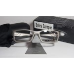 กรอบแว่นตา Oakley Gasser 55 mm สี  Tumbled Chrome ตัว Sample