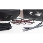 กรอบแว่นสายตา Oakley Crosslink Sweep 55 Asian Fit  สี Grey Smoke / Cardinal