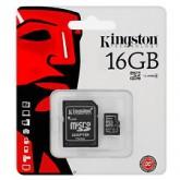 Kingston Micro SD Card Class 4 - 16GB with Adapter เหมาะใช้กับ กล้องดิจิตอล และ Smart phone