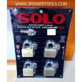 กุญแจชุด SOLO รุ่น 4507SQ 50มม. Master key system (4ตัว/ชุด)