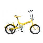 จักรยานพับได้ เฟรมเหล็ก K-ROCK ล้อ 16 นิ้ว 6 สปีด รุ่น  TQR1606 YST